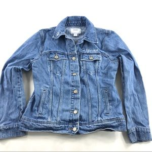 Old Navy California Embroidered Jean Jacket